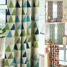 Multi Colored Curtains Drapes New Blackout Curtain Multi Color Triangle Printing Bedroom