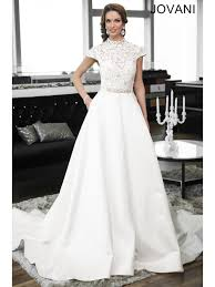 jovani wedding dresses satin bridal gown