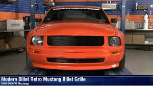 Black And Orange Mustang Mustang Black And Polished Retro Billet Grille 05 09 V6 Review