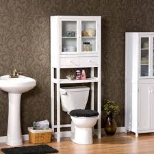Bathroom Toilet Shelf by Bathroom Soft White Finish With Slate Finish Accent Toliet Etagere