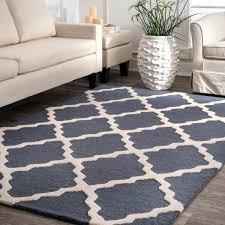 7 X 9 Wool Rug Nuloom Hand Hooked Alexa Moroccan Trellis Wool Rug 7 U00276 X 9 U00276
