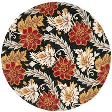 Black Round Area Rugs by Safavieh Celebration Black White Wool 6 Ft X 6 Ft Round Area Rug