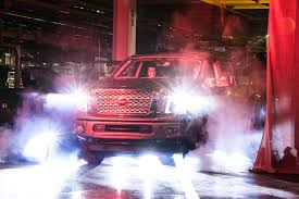 nissan titan tire size all new nissan titan xd full size pickup production begins at