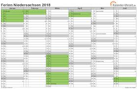 Kalender 2018 Hessen Din A4 Ferien Niedersachsen 2018 Ferienkalender Zum Ausdrucken