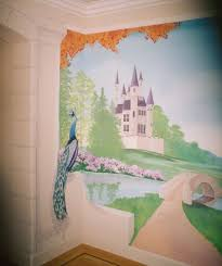 girls rule murals by deborah phillips soft colors and trompe l oeil nbsp add to the magic of this fairytale room