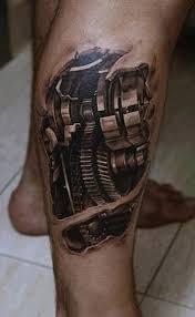 tattoo 3d mechanical biomechanical tattoo for geeks