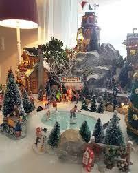 christmas villages christmas displays christmas tree display platform