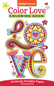 amazon com color love coloring book perfectly portable pages on