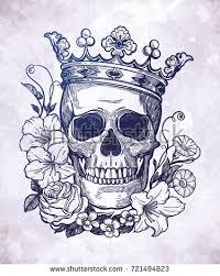 beautiful romantic skull crown elegant wreath stock vector