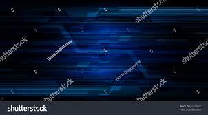 Light Cyber Future Technology Blue Light Cyber Security Stock Vector 501204667