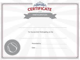 printable baseball certificate of participation award