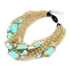 angela caputi earrings angela caputi multi layered necklace in turquoise and gold looks