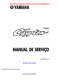 yamaha crypton 105cc workshop manual by madelainely issuu