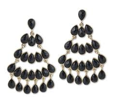 black chandelier earrings the well appointed house luxuries for the home the well
