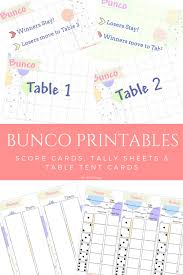 free printable table tents play bunco with printable bunco score tally tent cards the