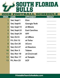 printable bulls schedule 2018 printable usf football schedule
