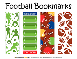 free printable football bookmarks download the pdf template at