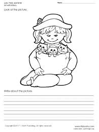 look think and write worksheet set 1