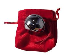medium silver believer polar express sleigh bell with