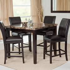 Space Saver Dining Set by Home Design Round Glass Top Dining Table 4 Chairs High And