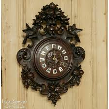 carved wood wall 19th century carved wood wall clock inessa stewart s antiques