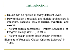 pattern language of program design using design patterns in the development of a planner based