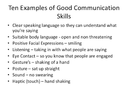 communication skills examples for resume customer service skills
