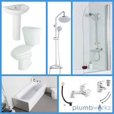 Shower Packages Bathroom Appleby 1600 Complete Bath Shower Package Plumbworkz