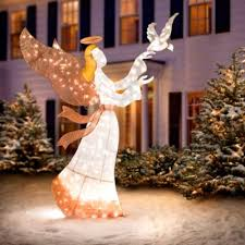 Lighted Angel Outdoor Christmas Decorations by 60