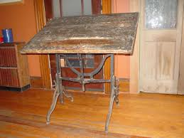 Iron Drafting Table Antique Maple Drafting Table W Cast Iron Legs 1894 Antique