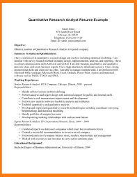 cover letter quantitative research analyst resume quantitative