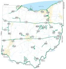 State Of Ohio Map by Pages Byways Map