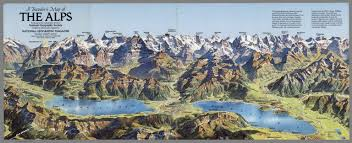 The Alps On World Map by View Traveler U0027s Map Of The Alps National Geographic Society
