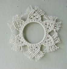 small macrame decor macrame wedding gift white cotton macrame