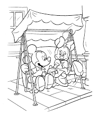 mickey and minnie coloring pages playing music coloringstar