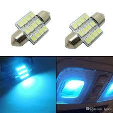 car bulbs 12 smd 5050 led working light car interior aqua blue