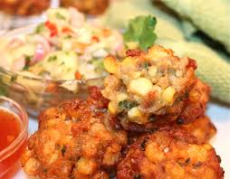 oh my thai spicy red curry sweet corn fritters kitchen encounters