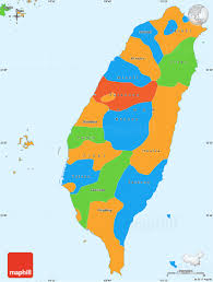 Simple World Map Political Simple Map Of Taiwan