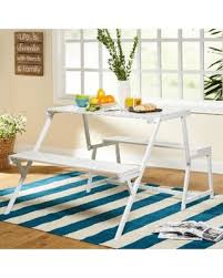 winter sale simple living metal folding table and dining bench