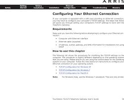 tg1672 touchstone telephony gateway user manual touchstone tg1672g