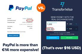 transferwise vs paypal vs bank fees which is better