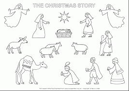 marvelous printable nativity coloring pages kids nativity