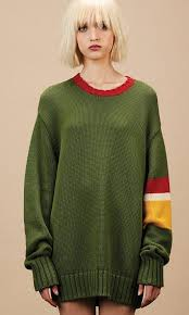 green sweater oversized green sweater again collection