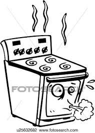 dessins cuisine clipart appareil brûleur dessin animé cuisinier cuisinière