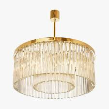 Linen Pendant Light Decoration Drum Light Chandelier Drum Shade Pendant Light