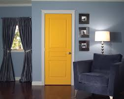 Home Interior Door Charming Yellow Interior Door In Living Room With Curtains And