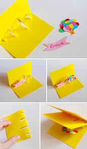 how to make handmade pop up birthday cards geburtstagskarten basteln pop up karte recycling basteln 63
