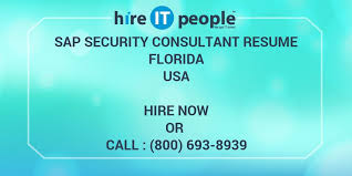 Sap Security Consultant Resume Samples by Sap Security Consultant Resume Florida Hire It People We Get
