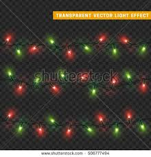 garlands christmas decorations lights effects isolated stock