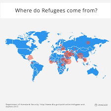 Cost Of Living Map Usa by 13 Questions About Refugees Answered With Charts Venngage